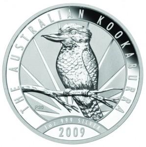 2009 P aussie silver kookaburra reverse