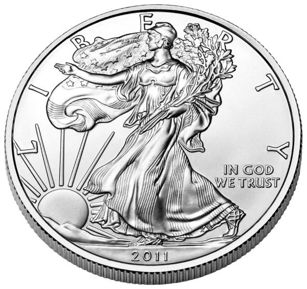 2011 silver eagle obverse
