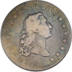 1794 silver dollar f condition