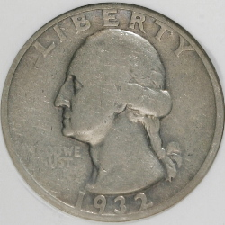1932 washington quarter f condition