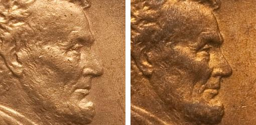 cleaned vs uncleaned coin example