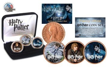 harry potter deathly hallows coin set
