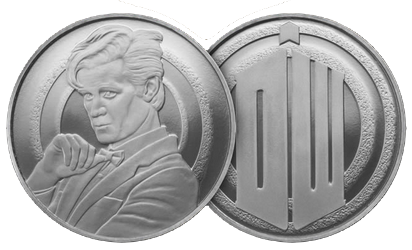doctor who silver coin